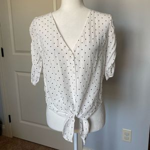 Abercrombie & Fitch polka dot top
